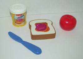 Fisher Price Fun with Food vintage disappearing peanut butter jelly sand... - $14.84