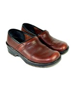 Sanita Clay Brown Leather Clogs Nursing Occupational Work Shoes 36 A / 5... - $29.69