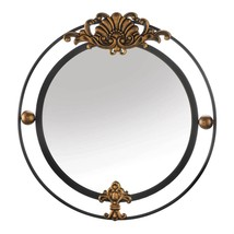 REGAL WALL MIRROR WITH GOLD ACCENT - $102.99
