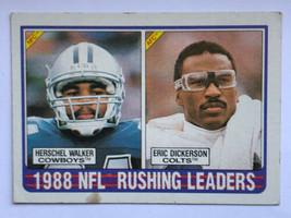 1989 Topps #219 Herschel Walker Eric Dickerson NFL Rushing Leaders Card Cowboys - $0.99