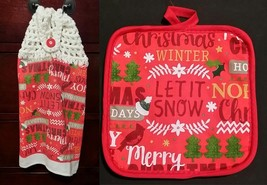 Let it Snow Kitchen Towel Topper + Potholder Set - $5.00