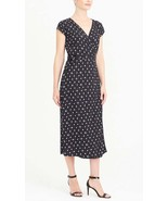 NWT J.Crew Mercantile Midi Wrap Dress M Retro Floral Viscose - $26.99