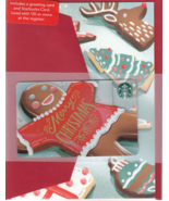 Starbucks 2017 Merry Gingerbread Man Gift Card Set New No Value - $7.99