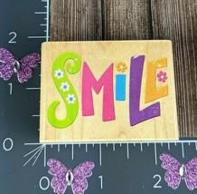 Rubber Stampede Smile Flowers Rubber Stamp #I145 - $7.91