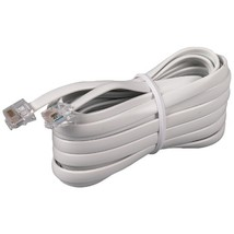 Rca White Phone Line Cord (15ft) - $9.28