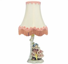 Antique lamp 1800s porcelain lace figurine capodimonte N crown mark Victorian 2 - $643.50