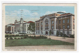 Gym Library Syracuse University New York 1919 postcard - $4.46