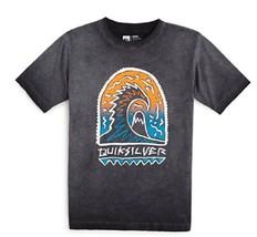 Quiksilver Boys' Shrine Wave T-Shirt, Tarmac, Size XL - $12.86