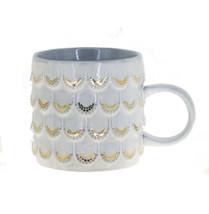 Starbucks Anniversary White Gold Scales Siren Relief Ceramic Handle Mug ... - $48.50