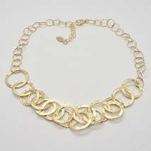 HALSBAND 925 SILBER FOLIE GOLD MIT KREISE BY MARIA IELPO MADE IN ITALY image 2