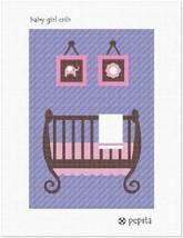 Pepita Baby Girl Crib Needlepoint Canvas - $39.60