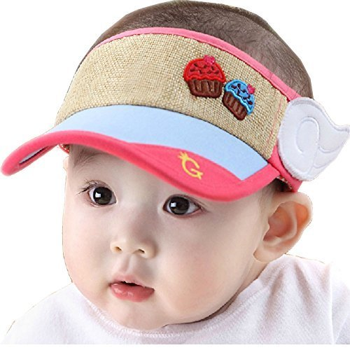 Baby Toddler Sun Protection Hat Infant Cap Without Top 9-36Months(Rose)