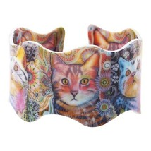 WEVENI Acrylic Original Design Love Wide Cat kitten Bracelets Bangles Je... - $17.20