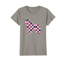Newfoundland Plaid Dog Silhouette T-Shirt v1 - $19.99+