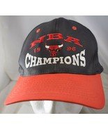 Chicago Bulls NBA 1996 Champions KC Snapback Baseball Cap Hat Black Red - $14.89
