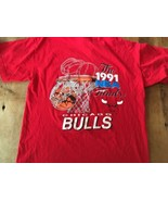 1991 NBA FINALS CHICAGO BULLS LAKERS JORDAN Logo 7 XL t-shirt - $33.24