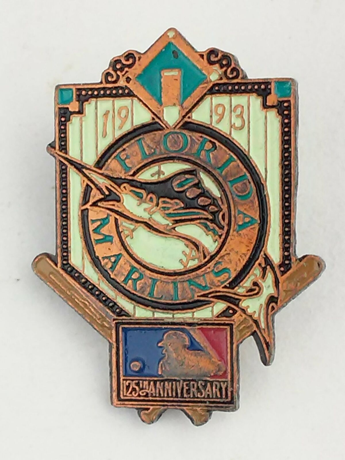Florida Marlins 1993 Inaugural Season Pin MLB Spikes