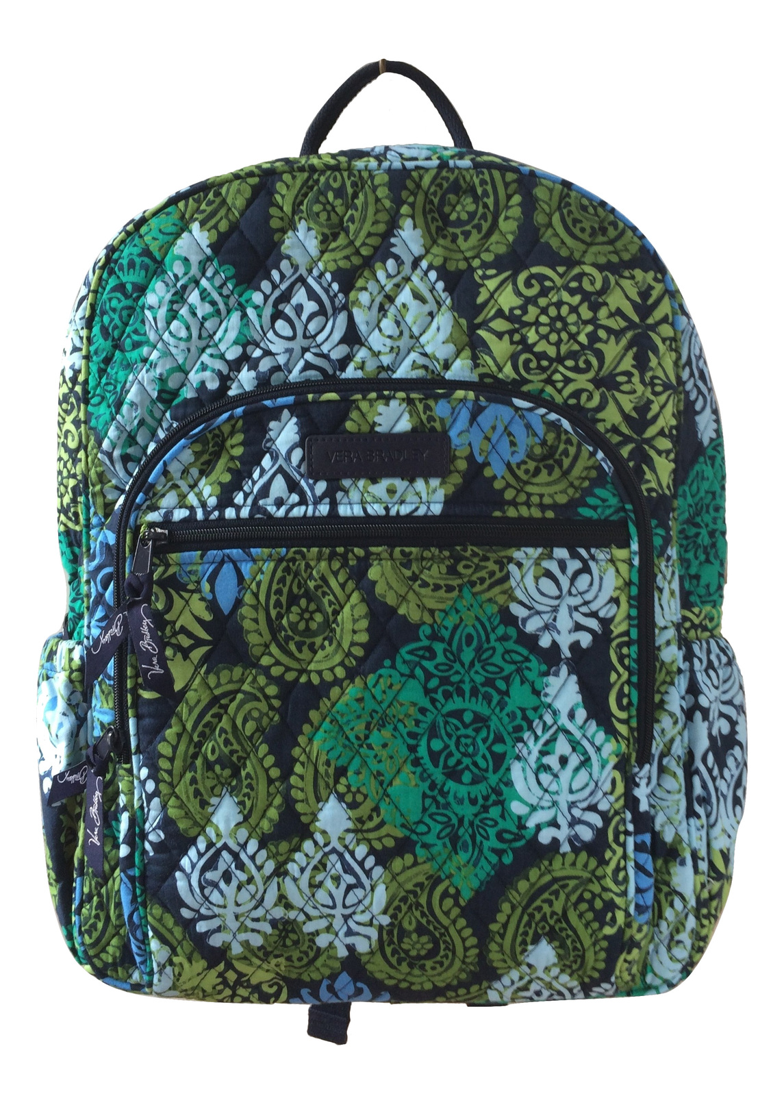 22ee503592 Img 1335 burned. Img 1335 burned. Previous. Vera Bradley Campus Backpack  with Caribbean Sea with Navy Interior