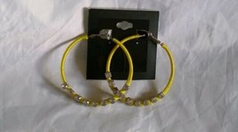 Fashion Jewelry Silver Yellow Tone Hoop Earrings Set - $14.03