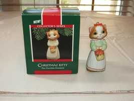Hallmark Keepsake Ornament Christmas Kitty Fine Porcelain Ornamen 1989 C... - $16.03