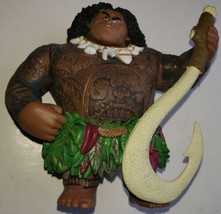Maui Moana Demigod Toy Figurine W/Fish  Hook Cake Topper Disney Play Figure - $9.89