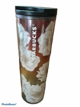 Starbucks Tall Tumbler RARE Ombre Flowers 16 oz. Disconnected - $29.69