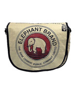 Global Fashion Mission Messenger Bag Black Piping Elephant Recycled Trav... - $68.30