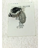 "Vintage Sterling Silver Charm MOC Pixie Kitchen Sea Shell 5/8"" Great Shape  - $32.18"