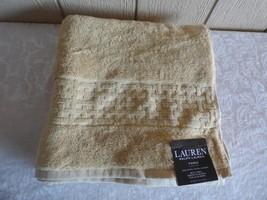 "$34.00 Lauren Ralph Lauren Pierce Bath Towel 30"" x 56"", Wheat - $9.55"