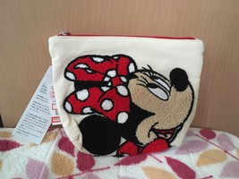 Disney Character Goods Sagara Embroidery Pouch Cosmetic Case Minnie - $57.42