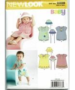 New Look Sewing Pattern 6038 Infants Romper Dress Sizes NB S M L  - $8.99