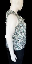Worthington Petite Sleeveless Blue and Cream Floral Blouse Size PXXL image 3