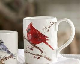 Red Cardinal Bird Design Mug Ceramic Nature Wild Bird Winter Beauty Coffee Tea