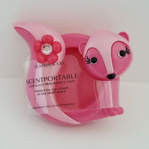 Pink Skunk Scentportable Bath Body Works Clip and Go Fragrance Unit Only No Disc