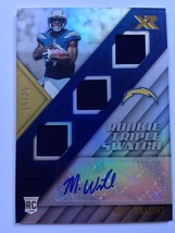 Mike Williams WR 2017 Panini XR RC 15/25 Auto San Diego Chargers Pokefun... - $28.76