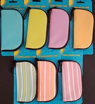 Soft Polyester Sunglass Cases w Zipper & Swivel Clip Set 2, Select: Color - $2.99