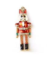 Christmas Nutcracker Doll Toy Soldier Good Luck Lovely Fun Brooch Lapel Pin - $9.99