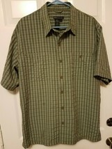 5.11 Tactical Series Men's Size L Concealed Carry Shirt Green Snap Buttons  - $28.12