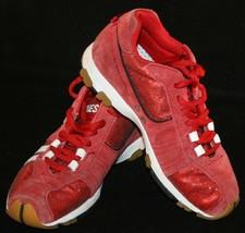Diesel Sneakers 5 1/2 5.5 Psyke Red Sparkly Shock Absorbent Shoes Women ... - $32.98