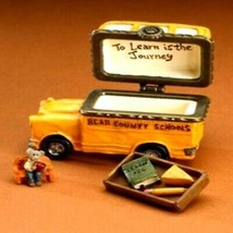 "Boyds Treasure Box ""Buddys School Bus w/Booker McNibble"" #4015205- NIB-2009 - $49.99"