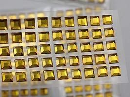 KraftGenius Allstarco 6mm Amber LQ32 Square Self Adhesive Acrylic Rhinestones Pl - $9.79