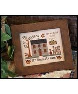 CLEARANCE My House My Home cross stitch chart Little House Needleworks - $6.80