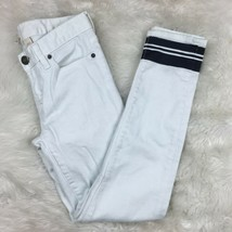 J.Crew Women's White Factory Printed Skinny Jeans Pants Size 25 Style 82835 - $19.79