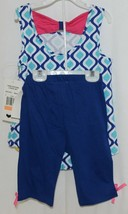 Rare Editions Giraffe Shirt Bike Shorts 2 Piece Set Royal Blue Size 6X image 2