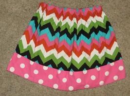 Chevron Polka Dot Skirt Size 4 - $9.49