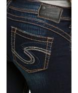 SILVER JEANS SHORTS Low Rise Camden Dark Cuffed Stretch Denim Jean Short 28 - $24.97