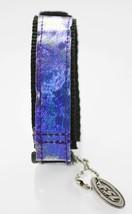 Fossil Unisex Purple Hologram Black Nylon Hook Loop Watch Strap 20mm - $9.36