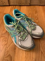 ASICS Gel contend 2 Teal Green Gray Running Athletic Shoes Womens Size 9 - £15.97 GBP