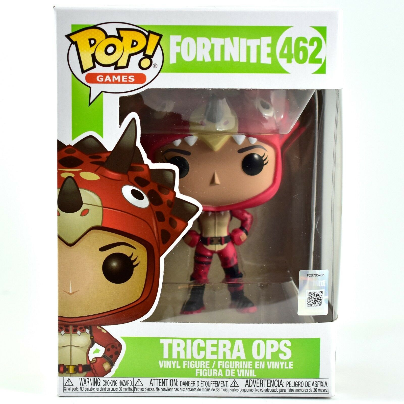 Funko Pop! Games Fortnite Character Tricera Ops #462 Vinyl Action Figure IN HAND