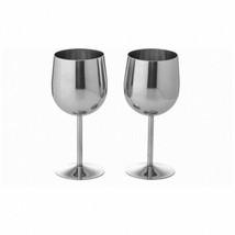 Maxam T304 Stainless Steel 2pc Wine Goblet Set - $31.12